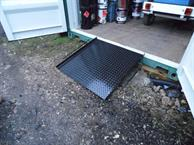 isoramp fitted to rear sill of container